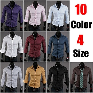 Formal Shirts For Men - 10 Color Casual Dress Shirts - Dress Shirts - eDealRetail - 1