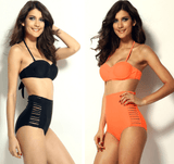 High Waisted Slit Summer Bikinis - Swimsuit - eDealRetail - 1