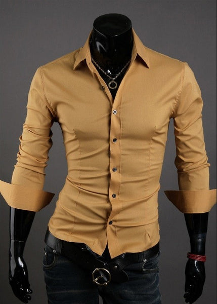 Formal Shirts For Men - 10 Color Casual Dress Shirts - Dress Shirts - eDealRetail - 9