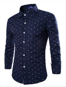2016 Long Sleeve Anchor Print Casual Shirts - Casual Shirts - eDealRetail - 4