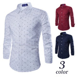 2016 Long Sleeve Anchor Print Casual Shirts - Casual Shirts - eDealRetail - 1