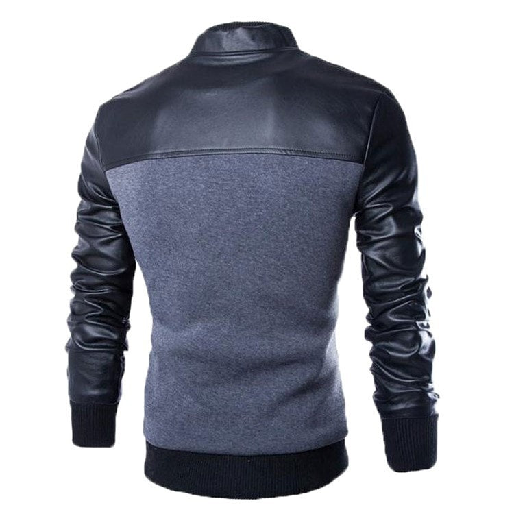 Stylish Buttoned Leather Jacket - Jacket - eDealRetail - 3