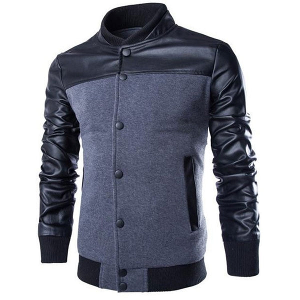 Stylish Buttoned Leather Jacket - Jacket - eDealRetail - 2