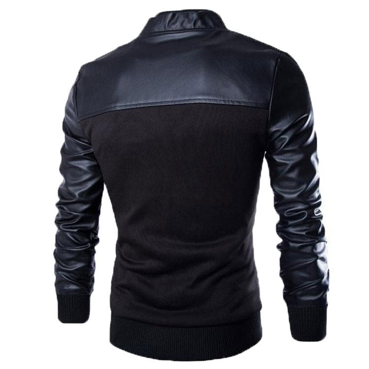 Stylish Buttoned Leather Jacket - Jacket - eDealRetail - 5