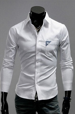 Men's Bright Leisure Self-Cultivation Shirts 4 Colors - Dress Shirts - eDealRetail - 5