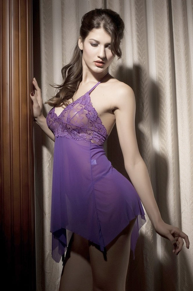 Sexy Stretch Babydoll Lace Nightwear - lingerie - eDealRetail - 6