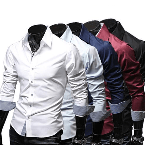 Spring Fashion Casual Slim Dress Shirts - Casual Shirts - eDealRetail - 1