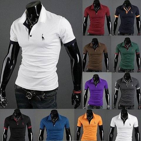 T Shirt Polo Mens Short Sleeve Shirts - Casual Shirts - eDealRetail - 1