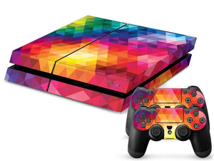 Colorful Rainbow PS4 Skin + 2 Controller Skins - PS4 Skins - eDealRetail - 1
