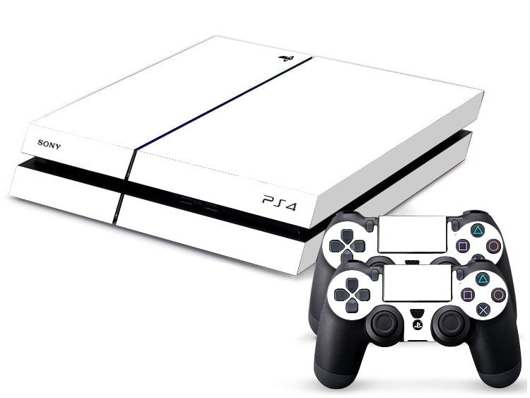 Solid White PS4 Skin + 2 Controller Skins - PS4 Skins - eDealRetail - 1