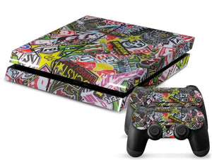 Sponsor Decal Stickers PS4 Skin + 2 Controller Skins - PS4 Skins - eDealRetail - 1
