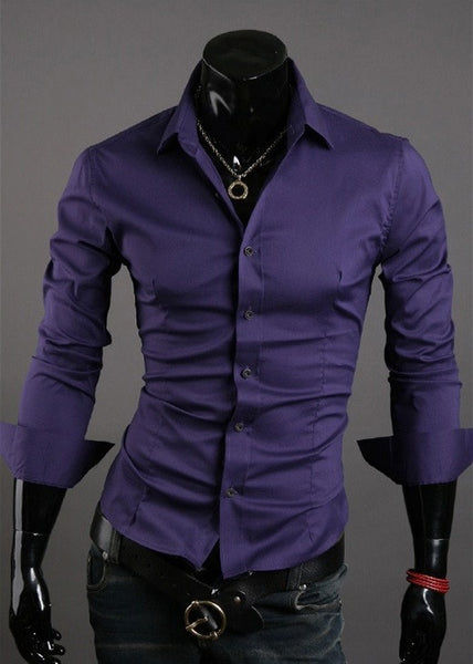 Formal Shirts For Men - 10 Color Casual Dress Shirts - Dress Shirts - eDealRetail - 11