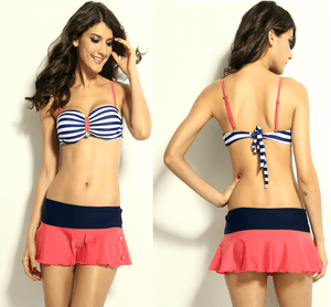2016 Summer Retro Nautical Style Bikini - Swimsuit - eDealRetail - 1