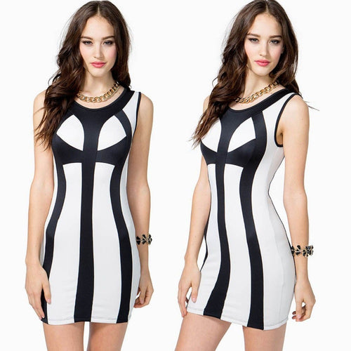 Sexy Bandage Bodycon Cocktail Club Dresses - Dresses - eDealRetail - 1