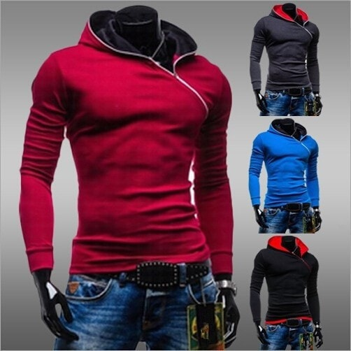 Side Zipper Pullover Hoodie - Hoodies - eDealRetail - 1