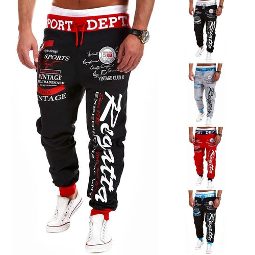 Sport Print Skinny Harem Pants - Stylish Pants - eDealRetail - 1