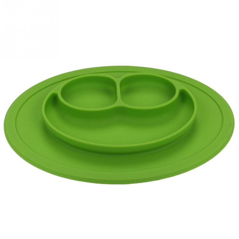 Smiley Silicone Food Tray for Babies and Toddlers