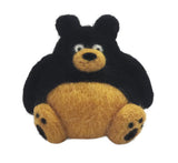 Black Bear Needle Felting DIY Kit. Makes 1