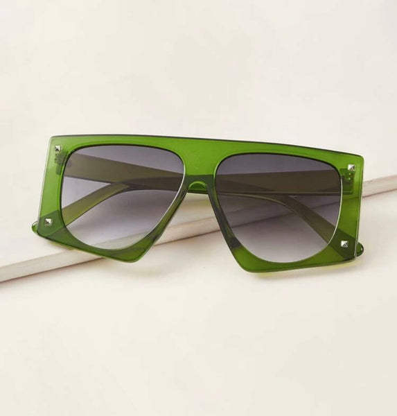 Green Flat Top Sunnies