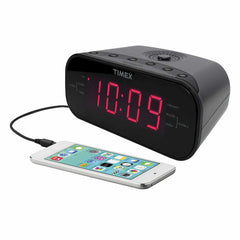 iHome Dual Alarm Clock Radio with 1.2 inch Red Display Grey