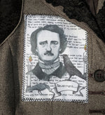 Load image into Gallery viewer, Edgar Allan Poe fabric patch