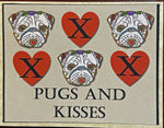 Load image into Gallery viewer, Pugs and Kisses Card - Valentine or Blank