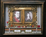 Load image into Gallery viewer, Morticia and Gomez Addams Dia de los Muertos Ofrenda Shadowbox