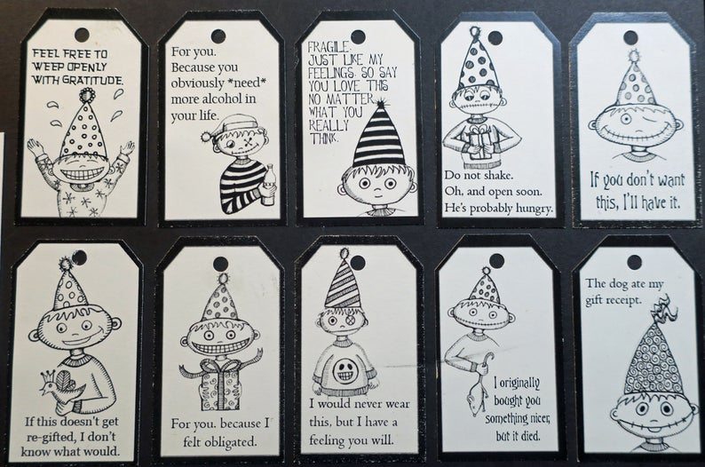 funny inappropriate sarcastic gift tags for you because I felt obligated