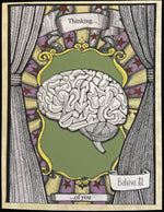 Load image into Gallery viewer, Thinking of you. Brain Card