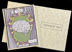 Thinking of you. Brain Card