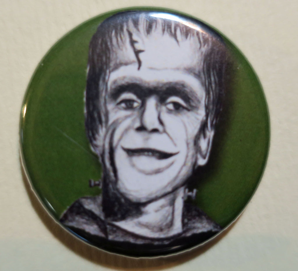 herman munster button magnet