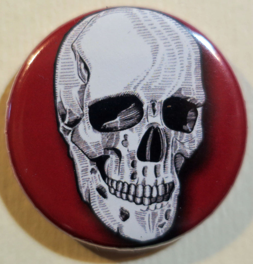 human skull button magnet