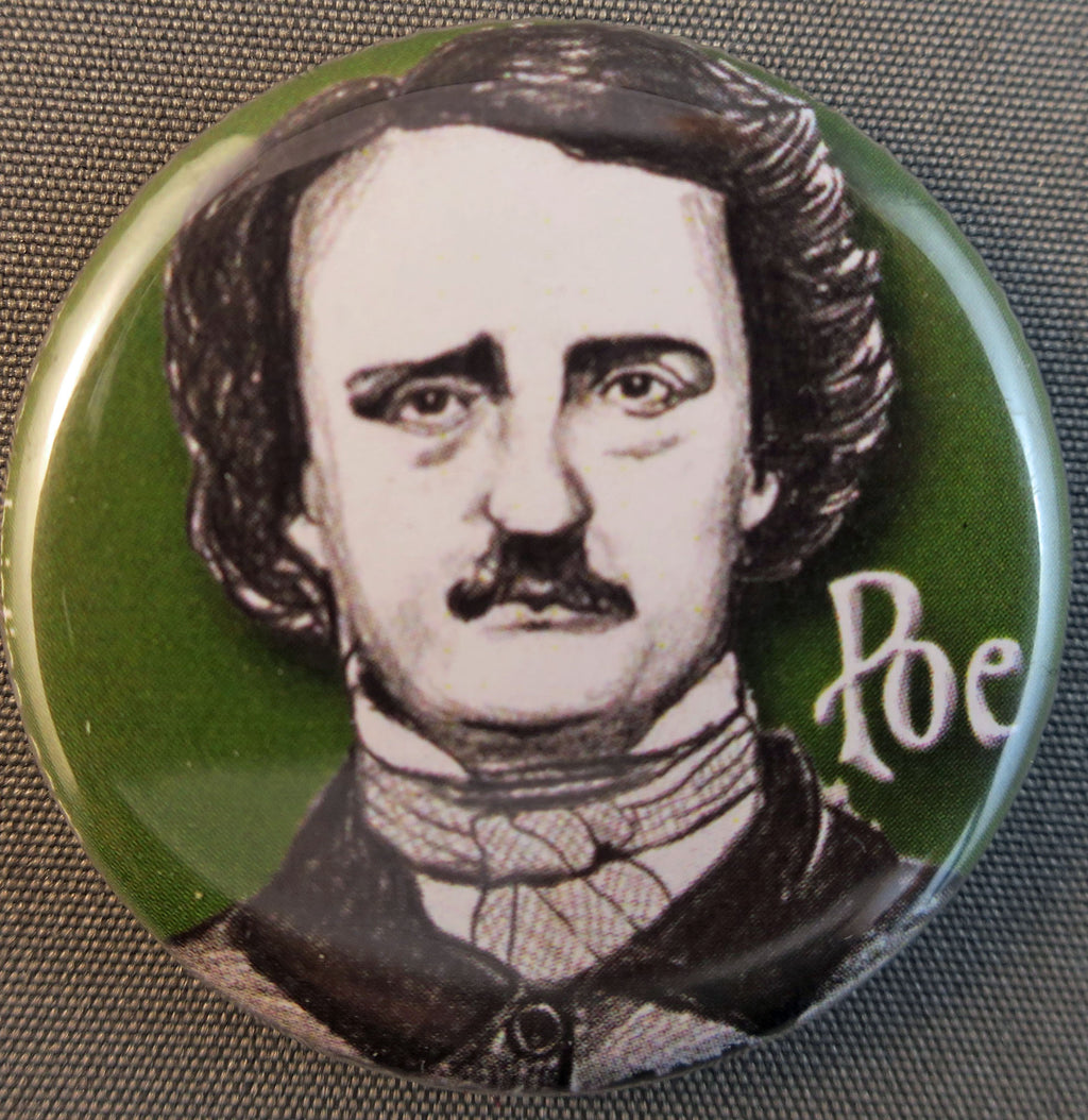 Edgar Allan Poe buttons and magnets
