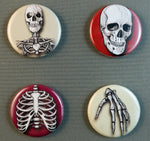 Load image into Gallery viewer, human bones skull buttons magnets