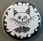 Load image into Gallery viewer, smiling cat button magnet