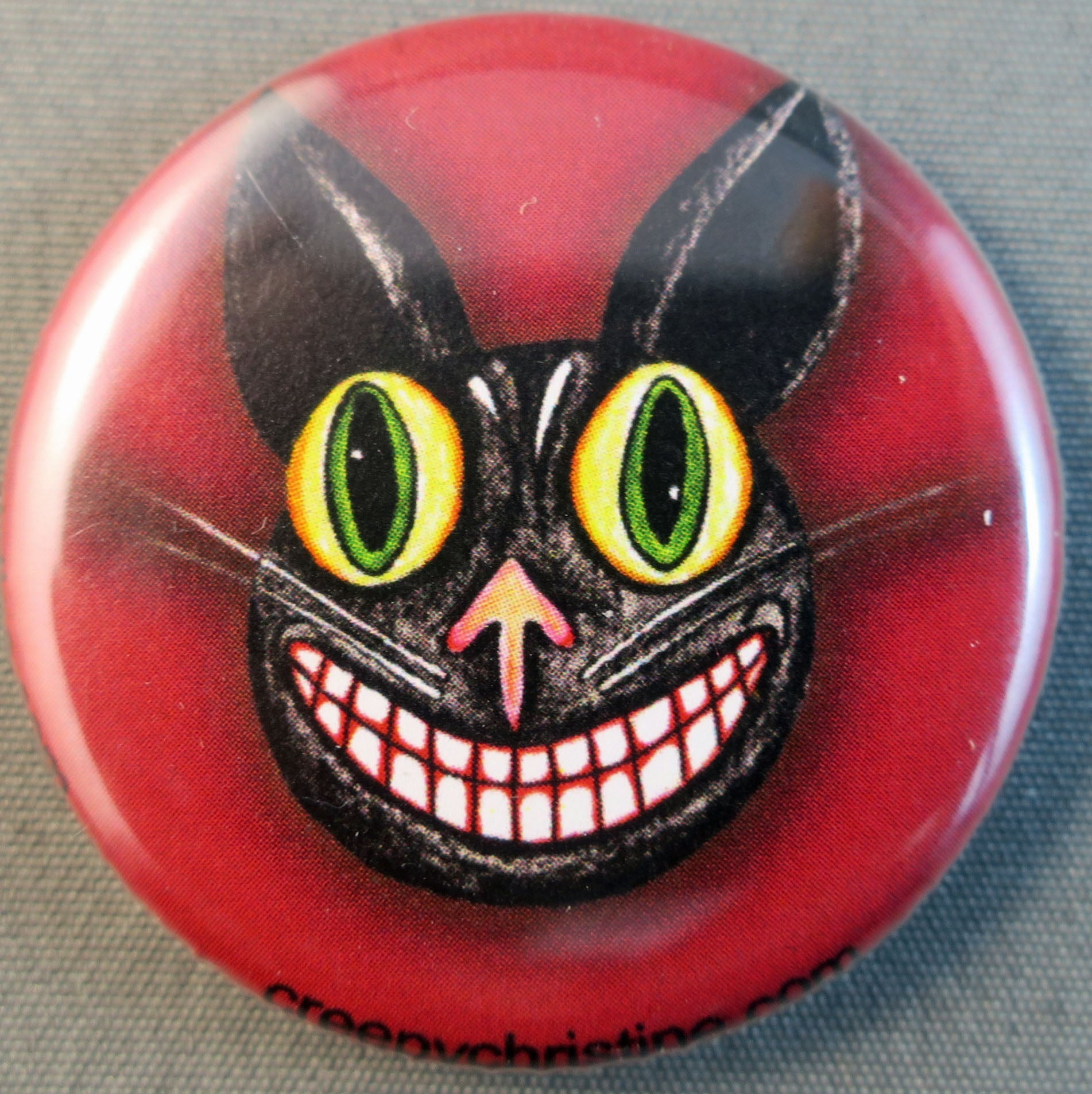 vintage halloween cat buttons magnets