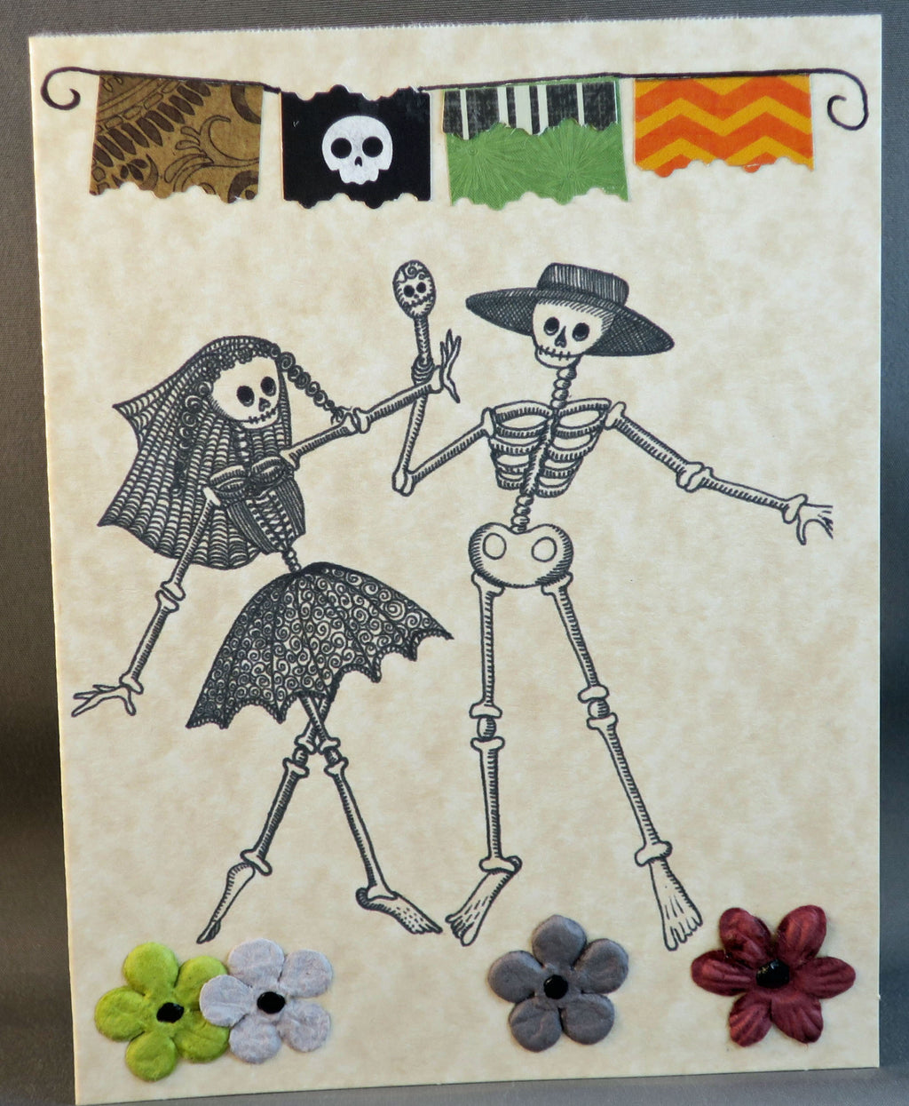 Dia de los Muertos Wedding Couple card
