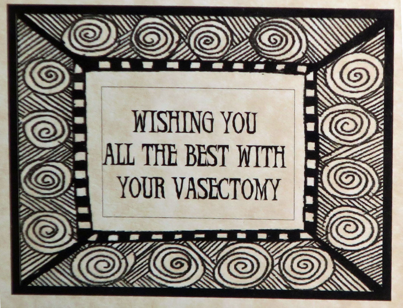 wishing you all the best on your vasectomy card
