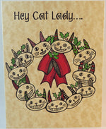 Load image into Gallery viewer, cat lady christmas card