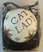 Load image into Gallery viewer, cat lady ornament