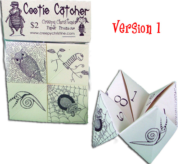 Cootie Catcher with fun fortunes already added