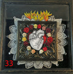 Load image into Gallery viewer, Corazon flaming heart shadowbox