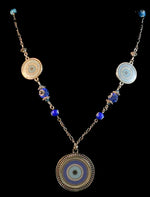 Load image into Gallery viewer, Evil eye talisman pendant necklace