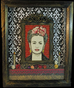 Load image into Gallery viewer, Frida Khalo Dia de los Muertos Shadowbox Tribute