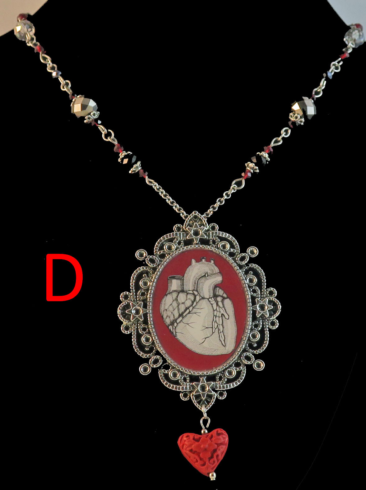 Human Heart Goth/Steampunk Pendant Necklace