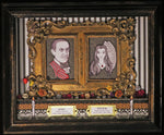 Load image into Gallery viewer, Gomez and Morticia Addams Dia de los Muertos inspired shadowbox
