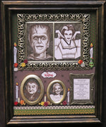Load image into Gallery viewer, The Munsters Dia de los Muertos tribute shadowbox