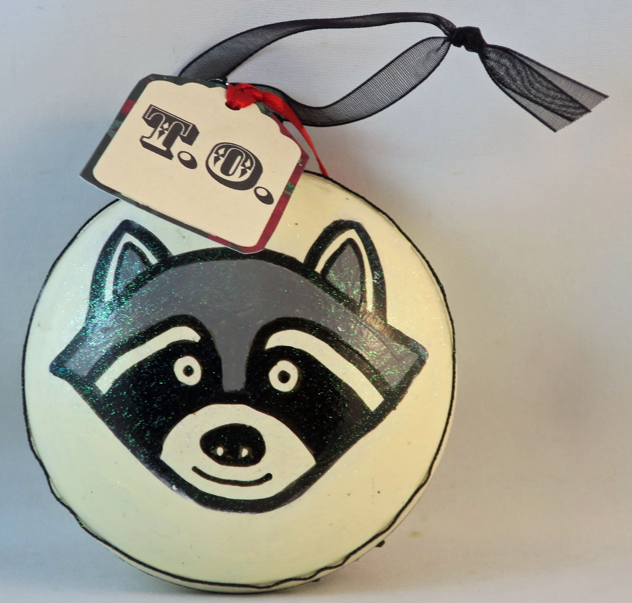 Toronto raccoon ornament stinking holidays