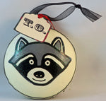 Load image into Gallery viewer, Toronto raccoon ornament stinking holidays