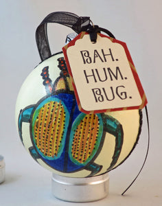 insect themed ornament bah hum bug